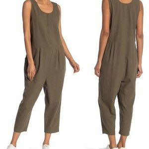Eileen Fisher Olive Organic Cotton  Jumpsuit XS